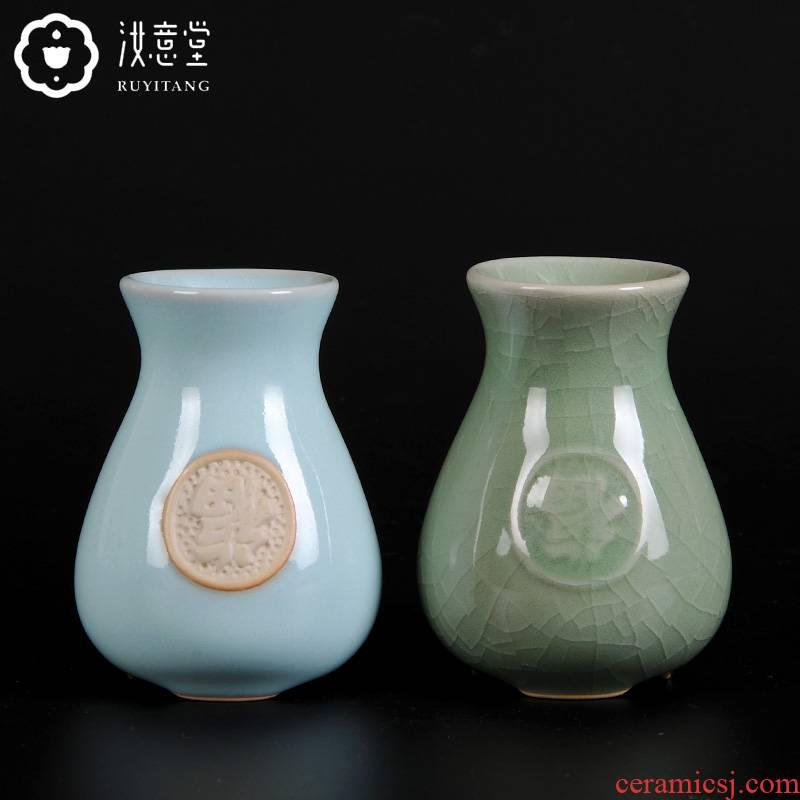 Your up floret bottle ceramic bottle arranging flowers small porcelain home sitting room tea table office desktop tea furnishing articles