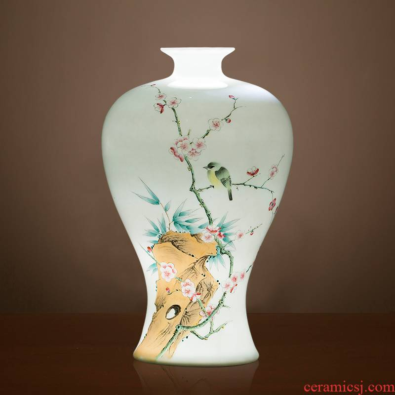Jingdezhen ceramics vase sitting room place, famous master hand draw pastel rich ancient frame home decoration decoration