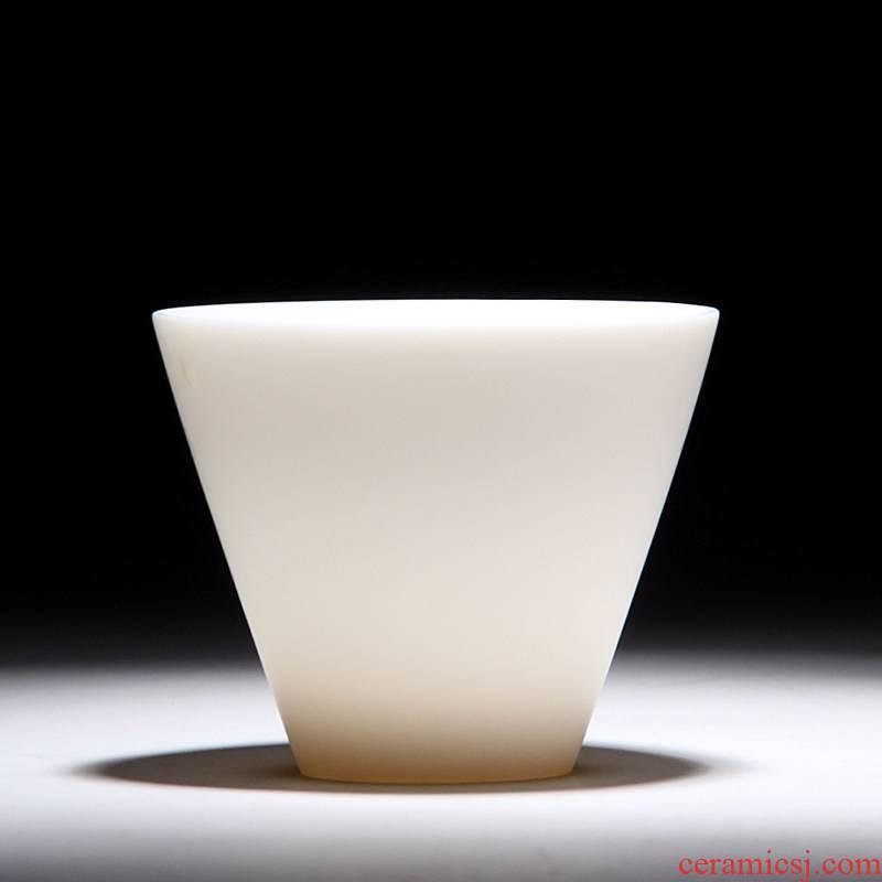 Mingyuan FengTang dehua white porcelain clay kaolin built white porcelain teacup ivory white ceramic masters cup KaiKouBei kung fu tea set