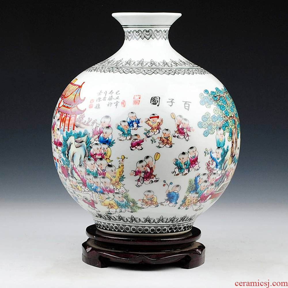 Chinese style of the ancients of jingdezhen ceramics powder enamel figure vase household adornment handicraft furnishing articles sitting room the ancient philosophers