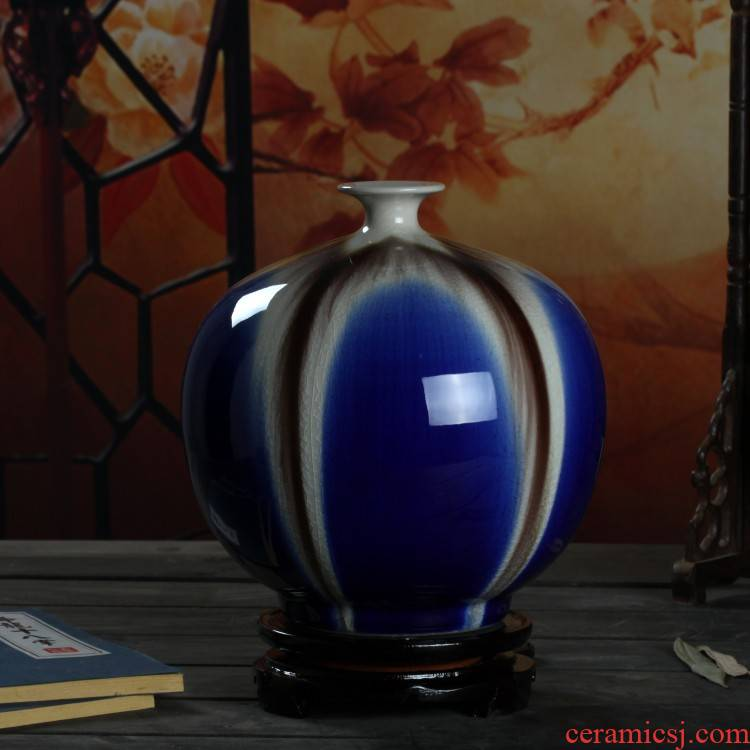 Jingdezhen ceramic vase variable blue sitting room household act the role ofing is tasted furnishing articles of modern creative arts porcelain arts and crafts