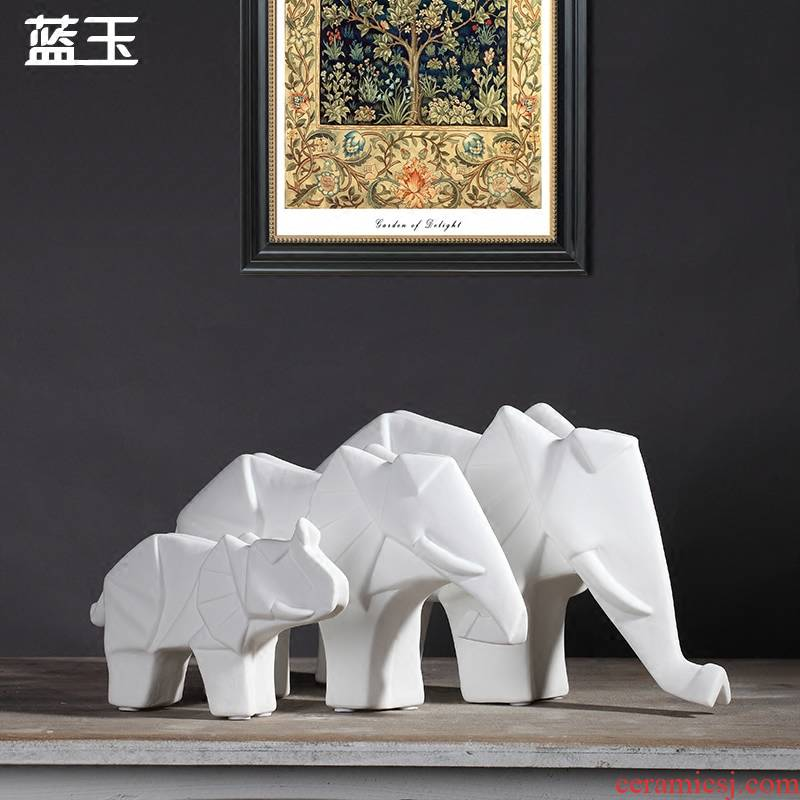 North European ceramic elephant furnishing articles creative household act the role ofing is tasted creative TV ark of I sitting room adornment handicraft