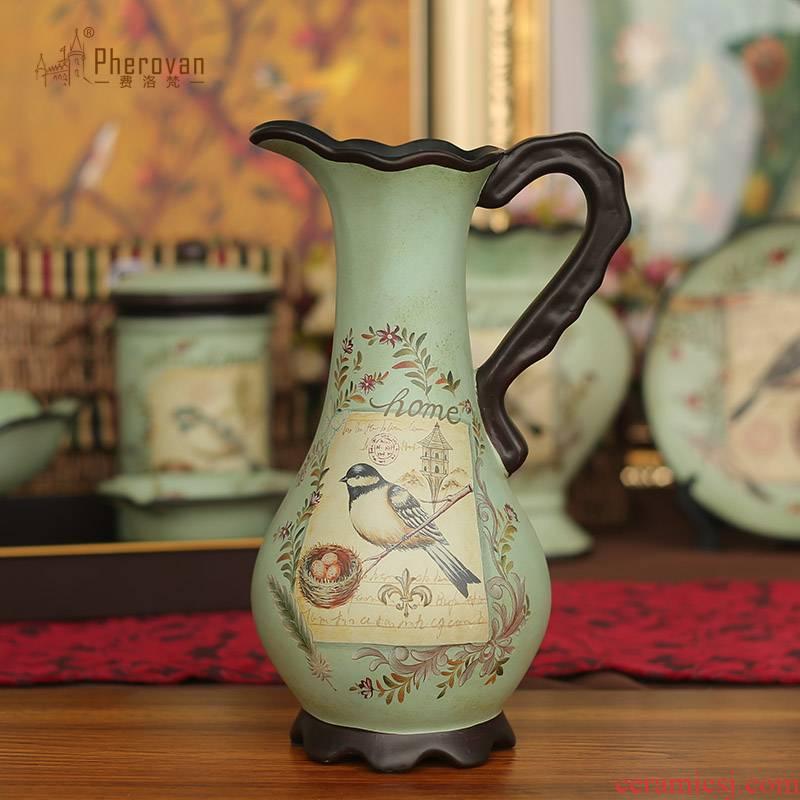 American milk pot vase restoring ancient ways furnishing articles creative home living room table ceramic flower arrangement, decoration decoration