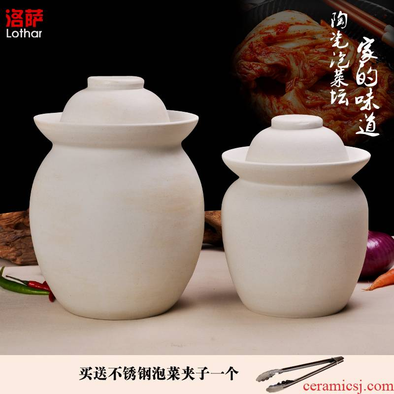 Jingdezhen kimchi altar double - sided unglazed double cover pickle jar pickles pickles cylinder pickle jar airtight jar of environmental protection