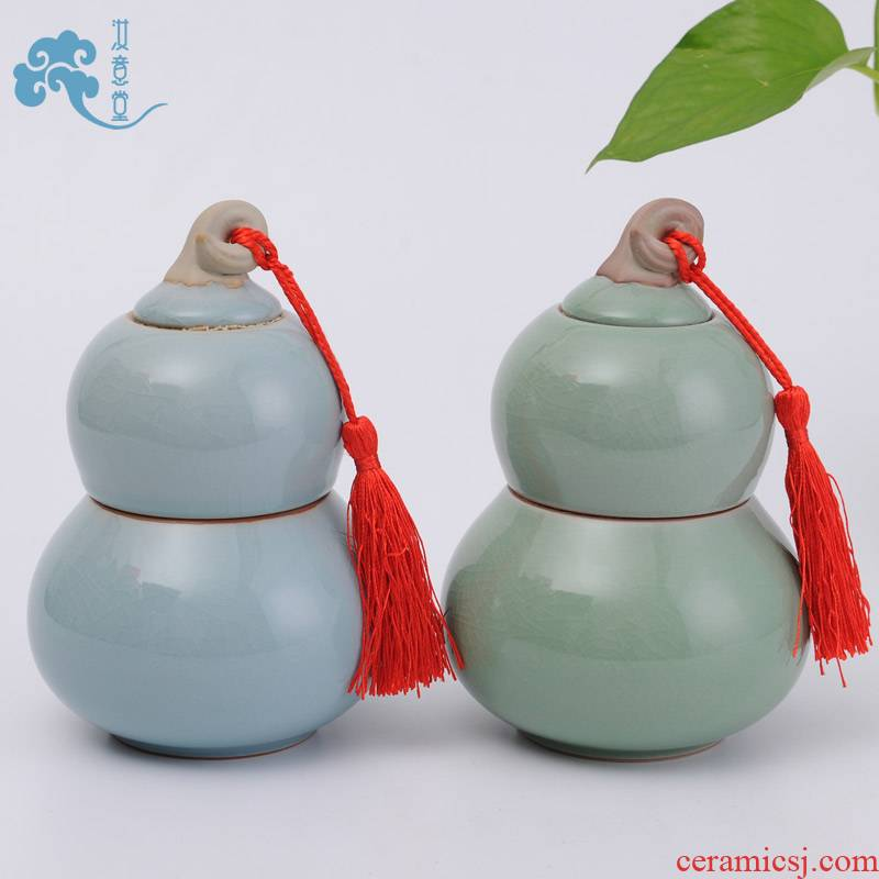 Your up porcelain ceramic bottle gourd storage tank kung fu tea caddy fixings accessories pu - erh tea seal pot