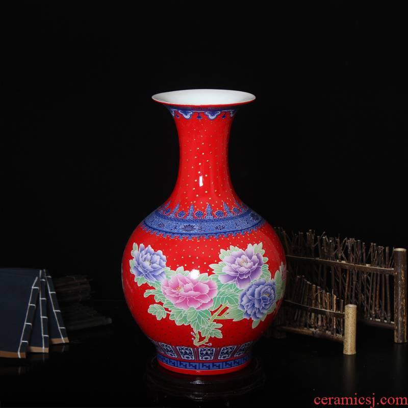 Hc - 099 jingdezhen ceramics vase furnishing articles antique Chinese style home sitting room adornment handicraft large landing