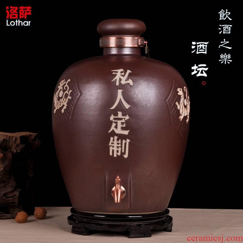Jingdezhen ceramic wine jar carving liquor bottles of mercifully jars 20/30/50 kg sealed it private custom