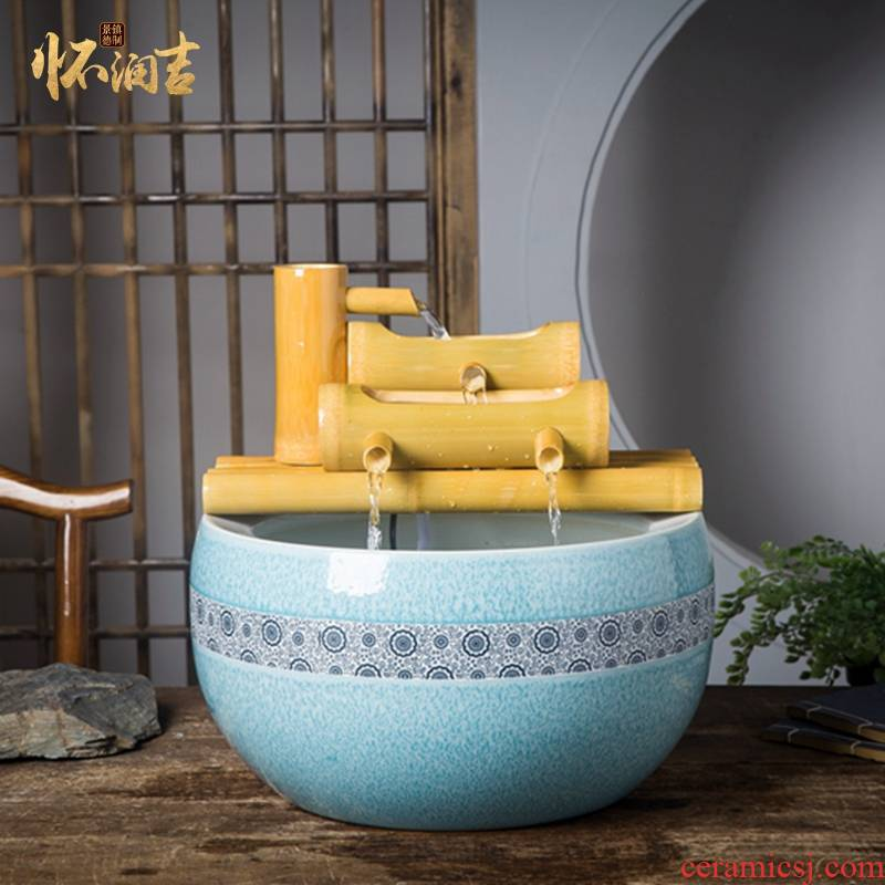 Jingdezhen ceramic sitting room adornment is placed cornucopia water tank hand - made fashionable sitting room furnishing articles
