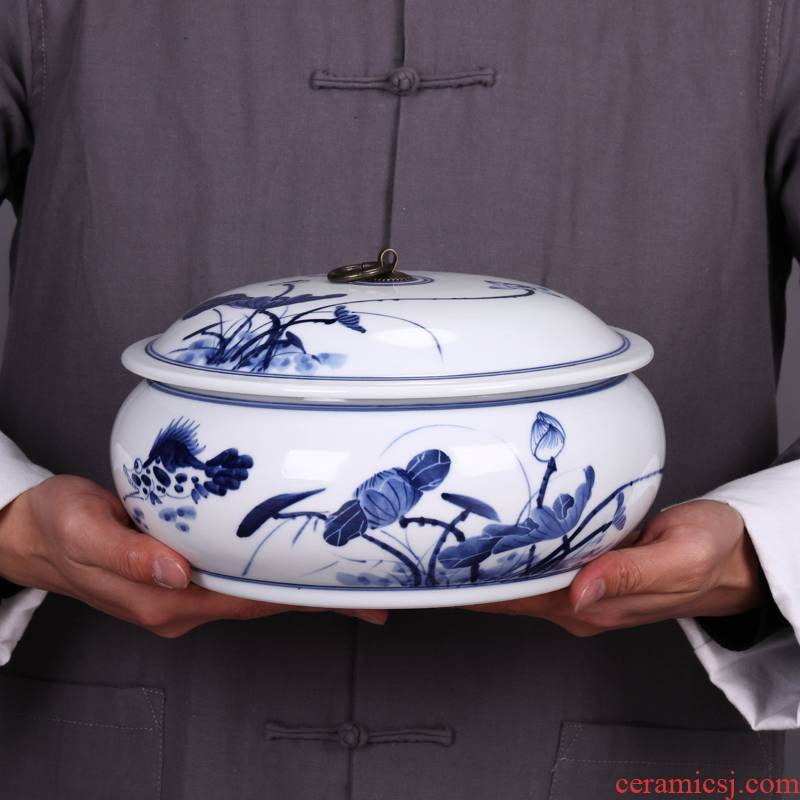 Jingdezhen ceramic household bread seven pu 'er tea pot cover seal pot receives general porcelain