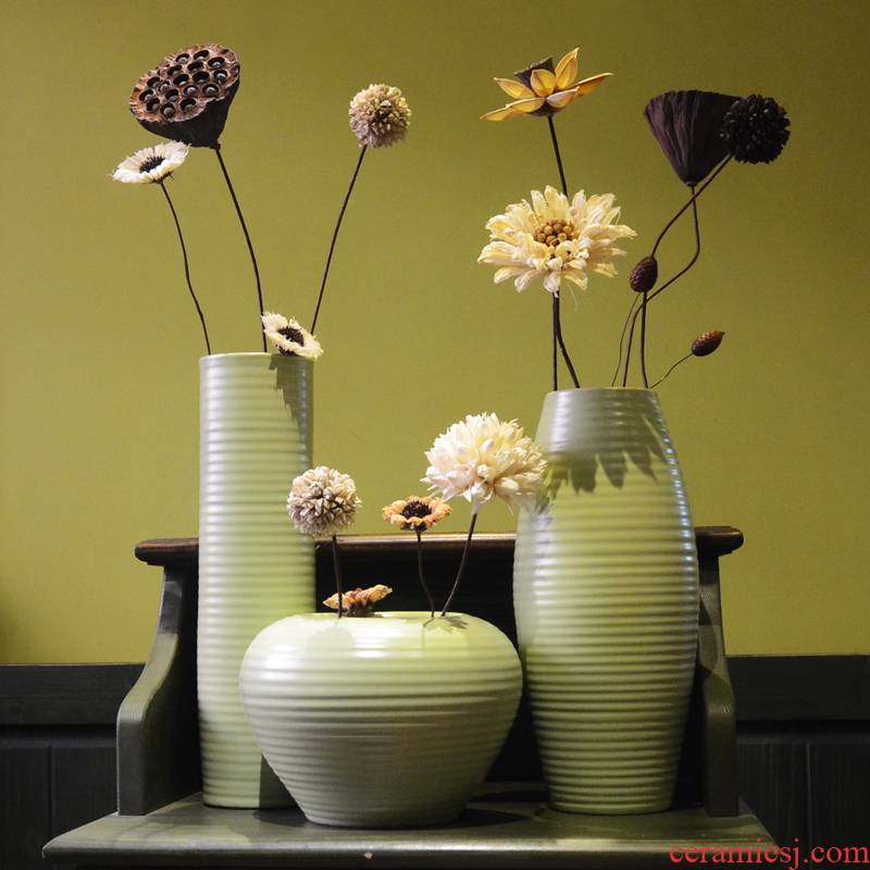 Dried flower adornment flowers I and contracted ceramic vase simulation table suit of rural household act the role ofing is tasted