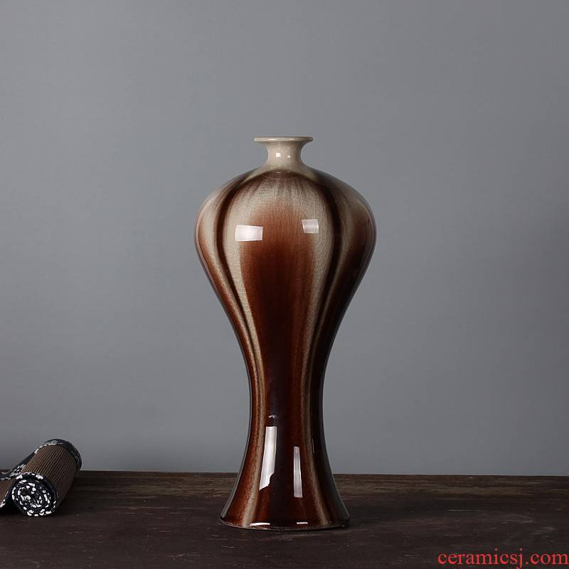 Porcelain of jingdezhen ceramic vase decoration decoration and meeting the study collection to send ice to crack the vase
