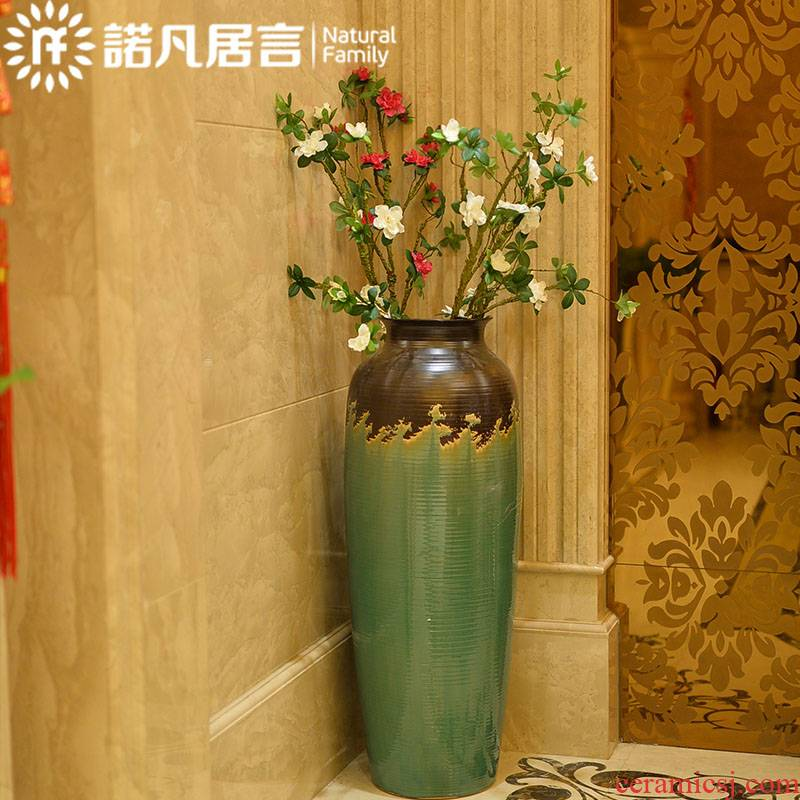 Ceramic light key-2 luxury furnishing articles of large vase that occupy the home sitting room hotel simulation dried flower flower arranging European American decorations