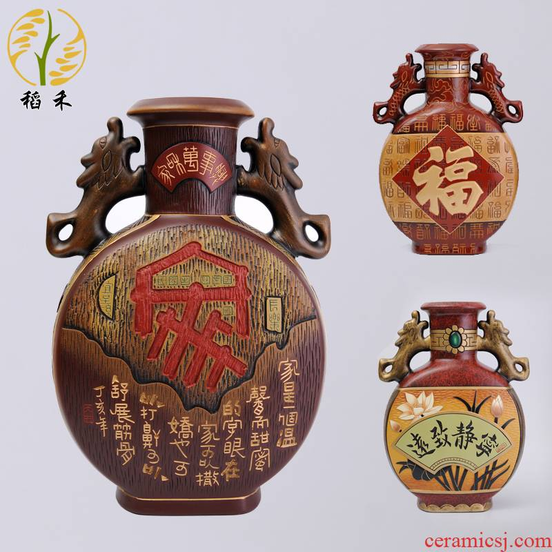 Chinese style classical ceramics handicraft pottery large vases, home furnishing articles sitting room porch decoration decoration business gifts