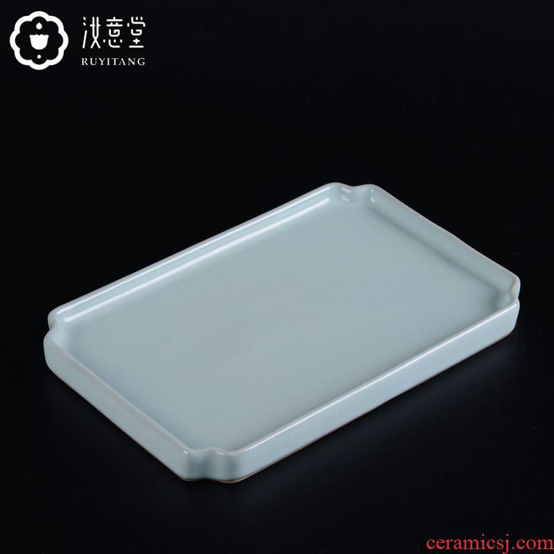 Archaize your up ceramic tea tray was your porcelain trays Japanese dry terms plate long contracted household porcelain bowl dish square plate