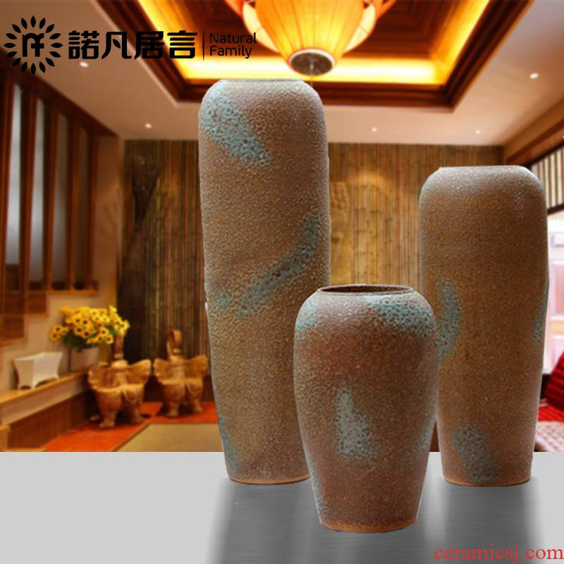 Is suing ceramic clay POTS to the sitting room of large vase household adornment flowers flower implement hotel garden coarse pottery furnishing articles