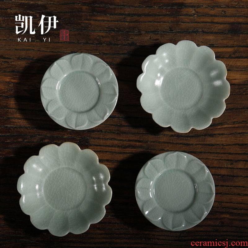 Kate your up lotus cup mat cup tea accessories can keep ceramic cup mat kung fu tea tea cup mat