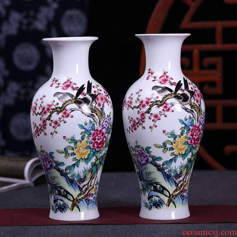 Modern Chinese jingdezhen ceramics vase flower arranging place to live in the sitting room porch craft ornaments furnishing articles