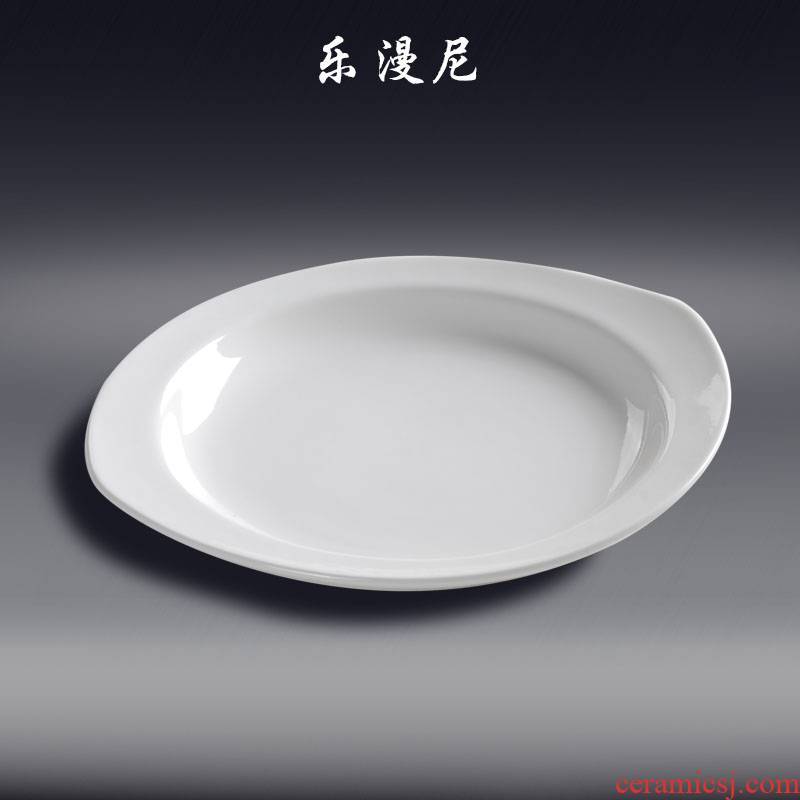 Le diffuse, double - pointed yan wing BaoPan - abnormity tableware joy diffuse hotel of ceramic tableware cooking hot ipads plate