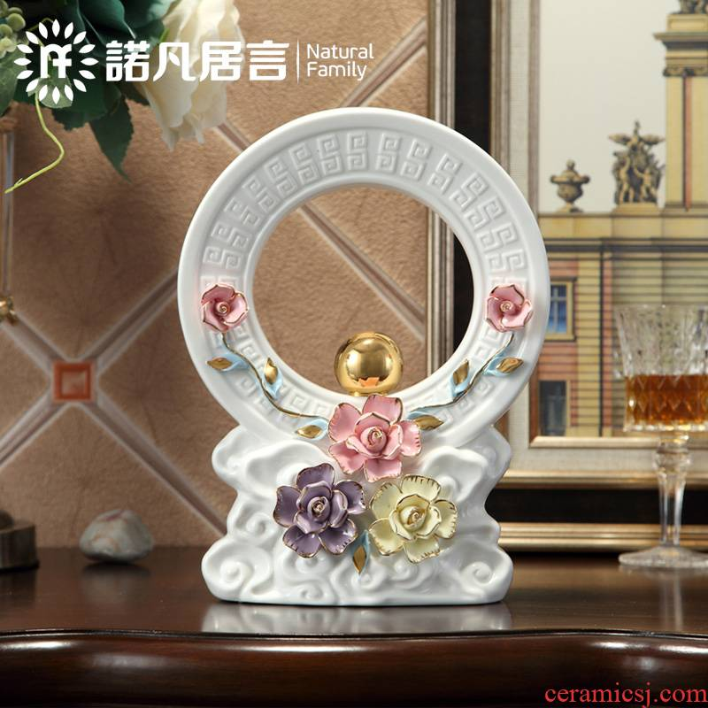 Jingdezhen ceramic office study living room home furnishing articles lucky decoration and European choi, gifts and auspicious decoration