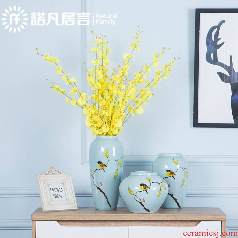 Mesa of jingdezhen ceramic vase creative I and contracted sitting room home furnishing articles flower arranging hotel decorative arts
