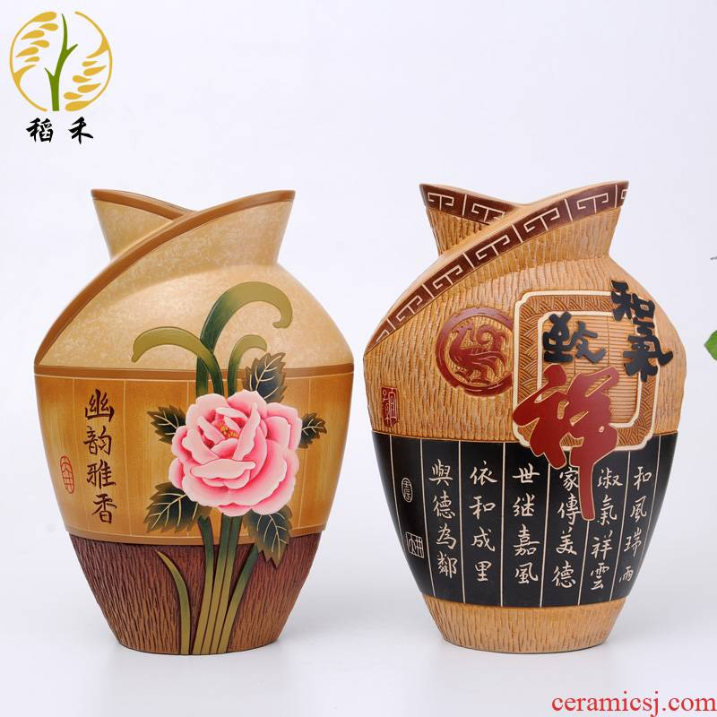 Creative made pottery ceramic vases, large Chinese classical the the teacher gifts home sitting room porch decorate furnishing articles