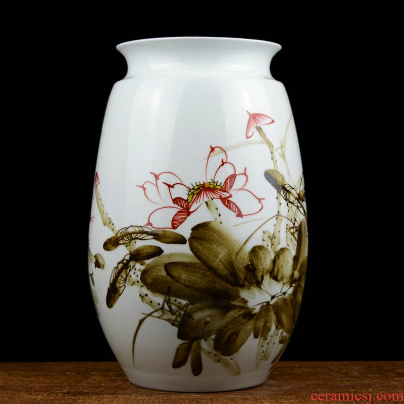 Jingdezhen ceramic hand - made vases furnishing articles celebrity master new Chinese style household act the role ofing is tasted, the sitting room porch place by hand