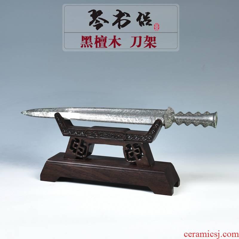 Pianology picking ebony crafts tool post sword katana swords holder frame home decoration pastry base frame