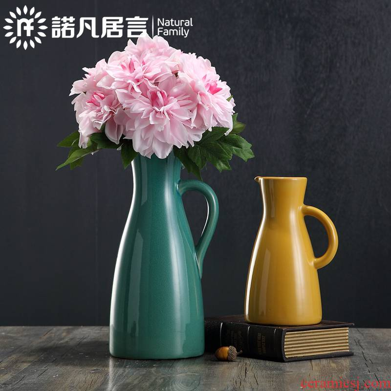 American ceramic vase mesa place sitting room hotel dry flower arranging flowers European creative fashion decoration decoration kettle