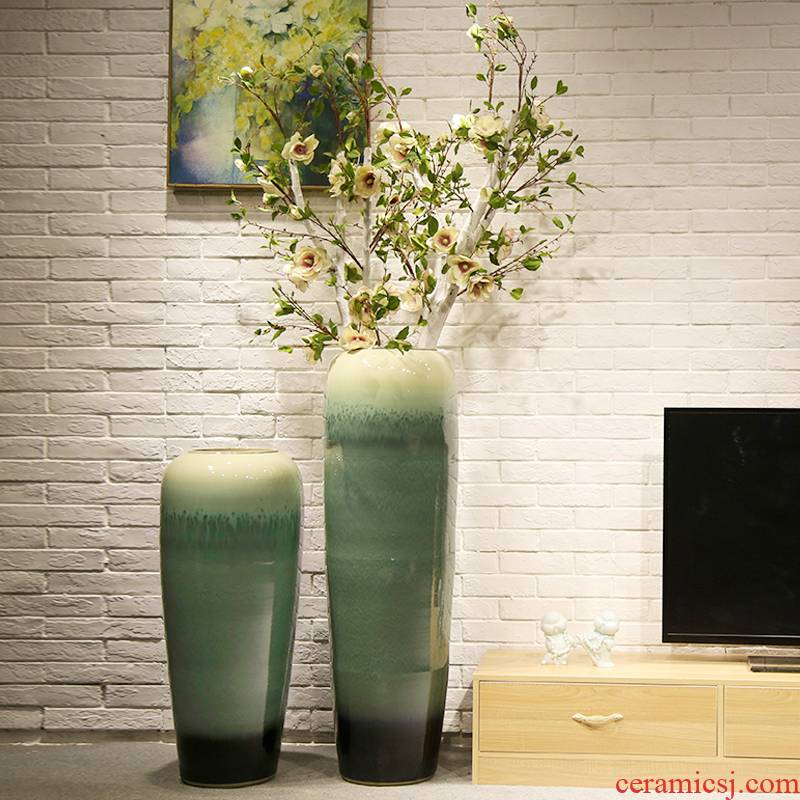 Club villa decoration decoration ceramics of large vase in the sitting room porch hotel office furnishing articles simulation of flower