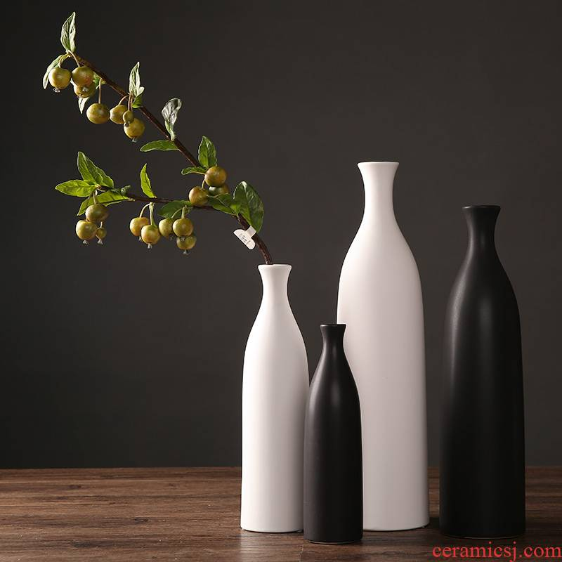 The Nordic white ceramic vase furnishing articles I and contracted dried flower arranging flowers sitting room of Chinese style household soft adornment