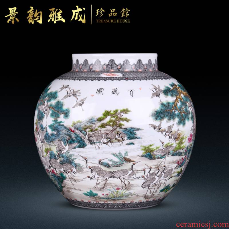 Jingdezhen ceramic new Chinese style flower vase furnishing articles home sitting room decoration porcelain craft ornament