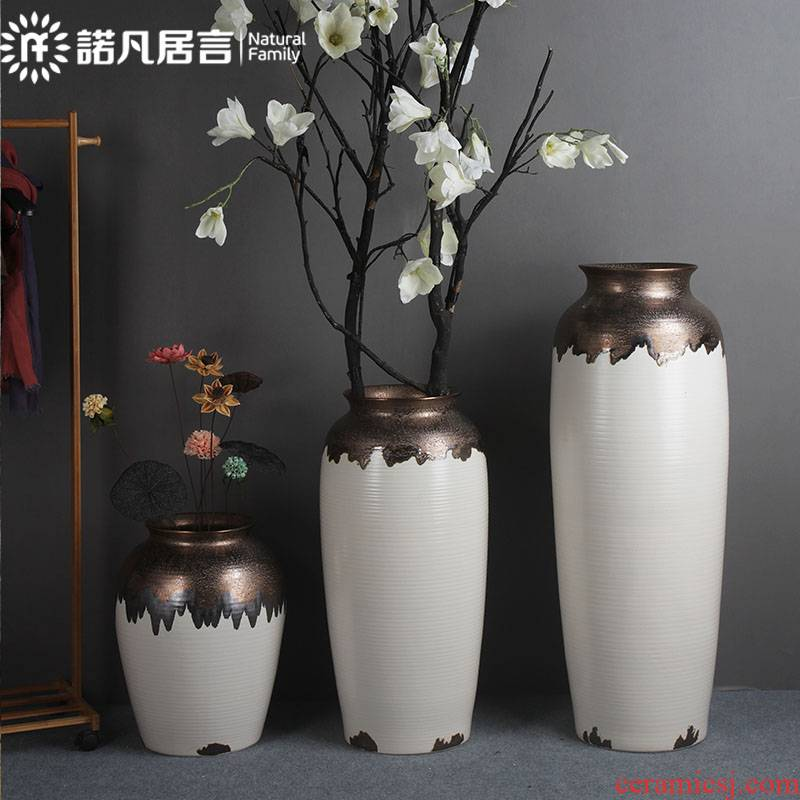 Large ceramic vase furnishing articles sitting room hotel flower arranging the ground dried flowers, European American light contracted fashion key-2 luxury decoration