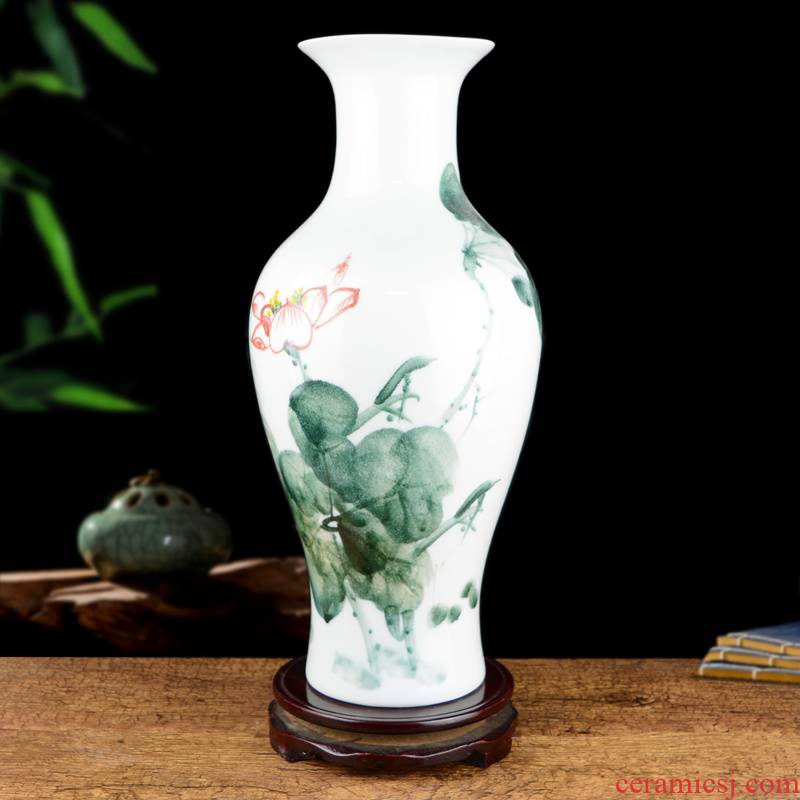 Jingdezhen ceramics hand - made enamel vase large Chinese flower arrangement is an art that sitting room adornment table surface furnishing articles