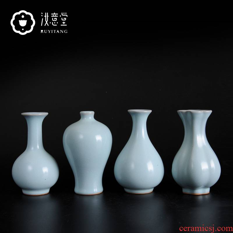 Archaize your up porcelain arts and crafts ceramics floret bottle contracted classical Chinese tea table desktop porcelain decorative furnishing articles