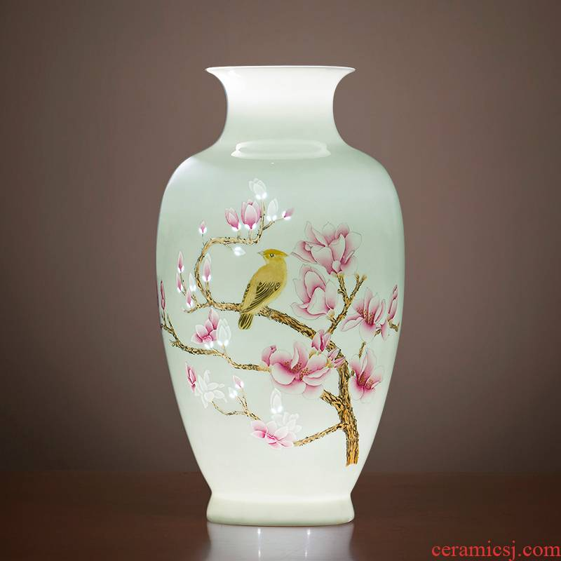 Jingdezhen ceramic vases, master of Chinese modern hand - made thin foetus and exquisite home sitting room porch decoration furnishing articles