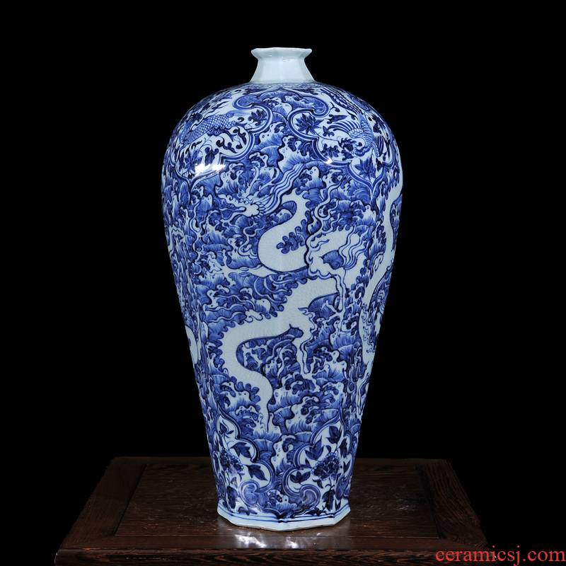 Jingdezhen ceramics imitation says Dr. In xiangyun vases, antique collection classical household handicraft furnishing articles
