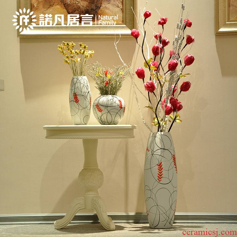 All Simulation flowers, dried flowers, artificial flowers, European marriage room floor ceramic vase suit furnishing articles of rural household act the role ofing is tasted