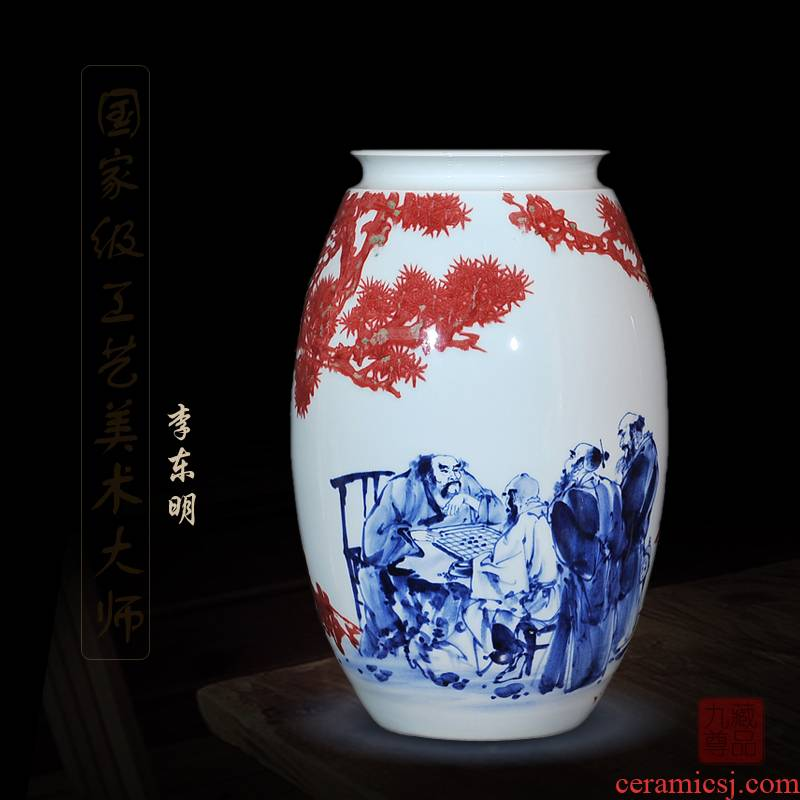 Jingdezhen blue and white youligong dong - Ming li hand - made ceramics vase transcribing crafts equation to talk to the living room