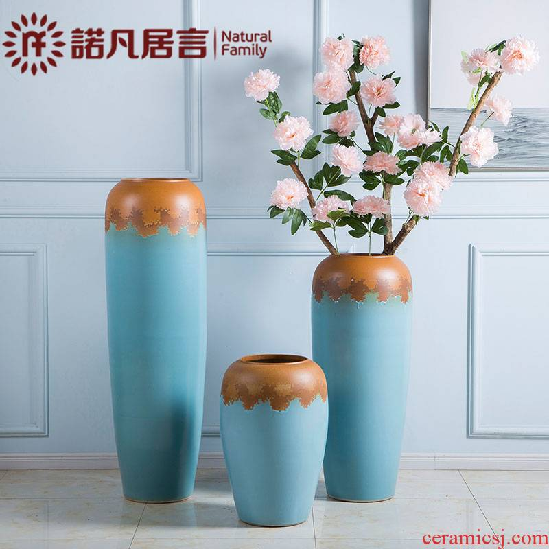 Dried flowers large European contracted sitting room ground ceramic vases, flower arranging furnishing articles modern rural small pure and fresh and light and decoration