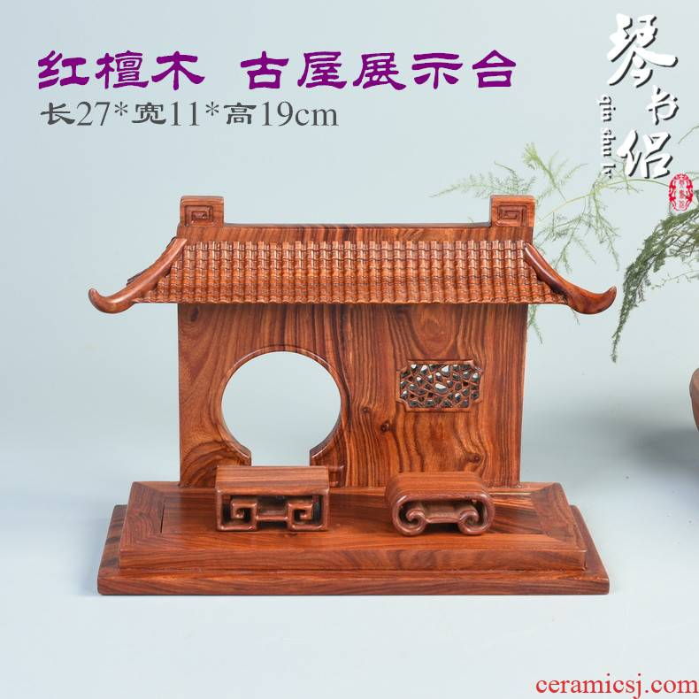 Pianology picking annatto process magenta wingceltis woodcarving hanging rack jade jewelry display crane jade solid wood base