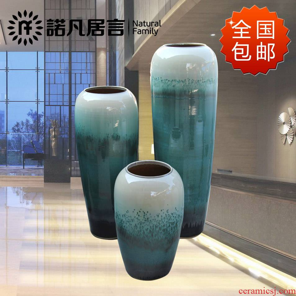 Jingdezhen ceramic hotel villa garden of large vases, the sitting room porch up flower flower, adornment is placed