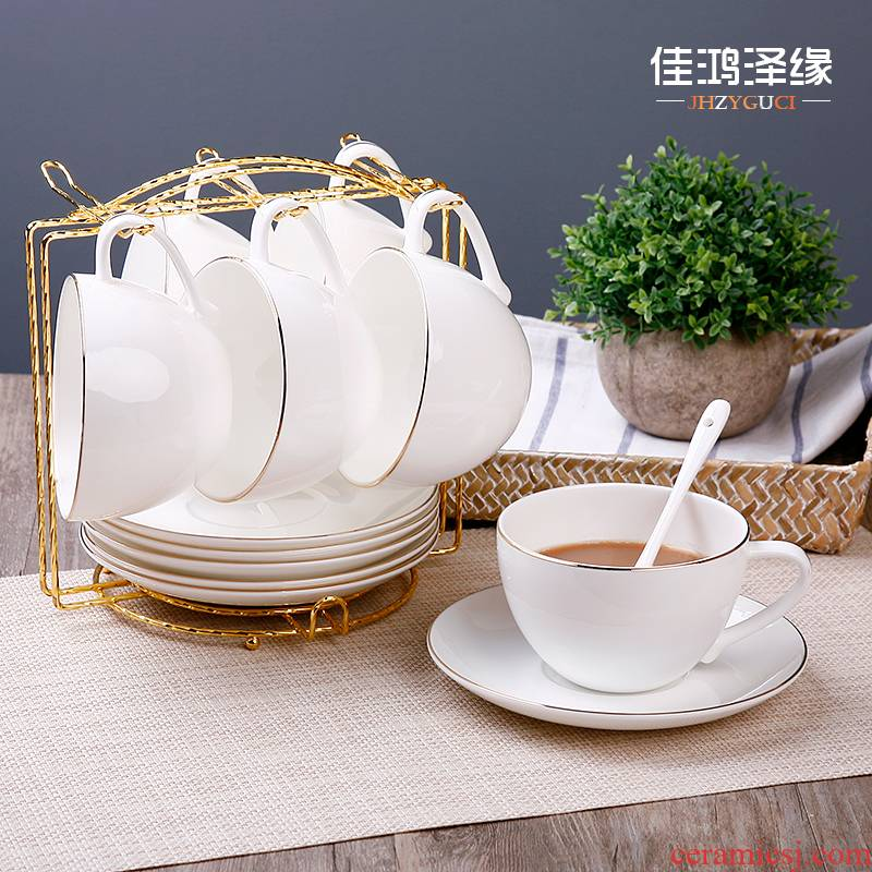Ipads China coffee cups suit English white coffee cup of red tea cups continental coffee cup with a spoon LOGO customize shelf
