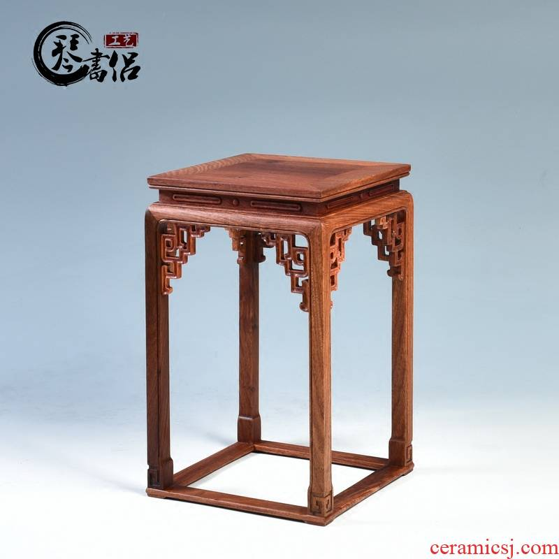 Pianology picking mahogany base Burma hua limu miniascape of carve patterns or designs on woodwork wood, a square base flower shelf furnishing articles