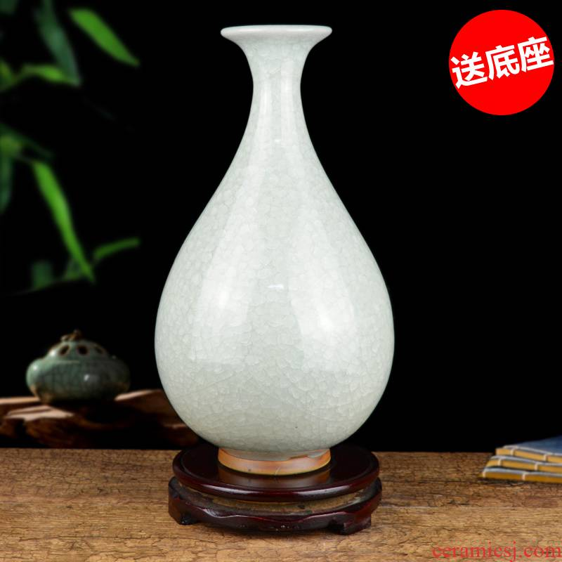 Archaize of jingdezhen ceramics up open piece of craft vase Chinese living room table flower arranging handicraft furnishing articles