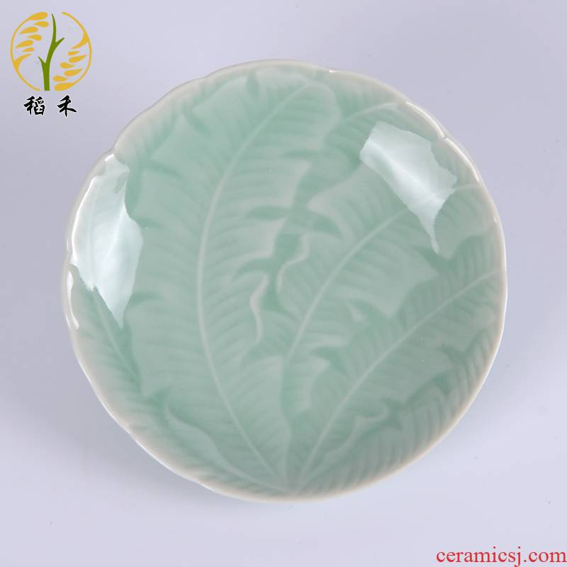 Rice grain celadon ceramics tableware plate dab plates dish dish dish of sauce dish snack Chinese style is contracted