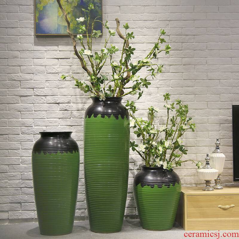 New Chinese style of large vase jingdezhen hotel villa simulation flower adornment is placed between example big flower flower