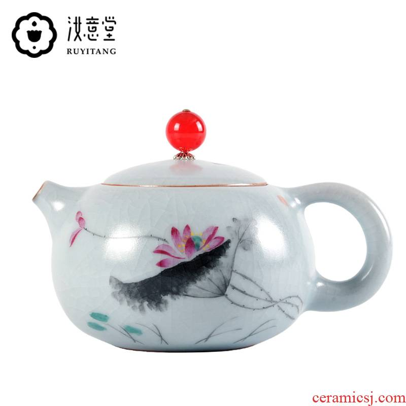 Your up hand - made xi shi pot of Your porcelain kung fu tea set to open the slice single pot can keep the teapot small checking household restoring ancient ways