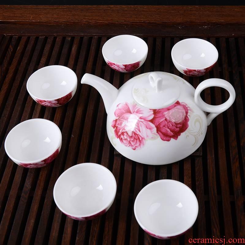 Ipads China tea tea set home tea cups of a complete set of ceramic tea set gift boxes with pallets