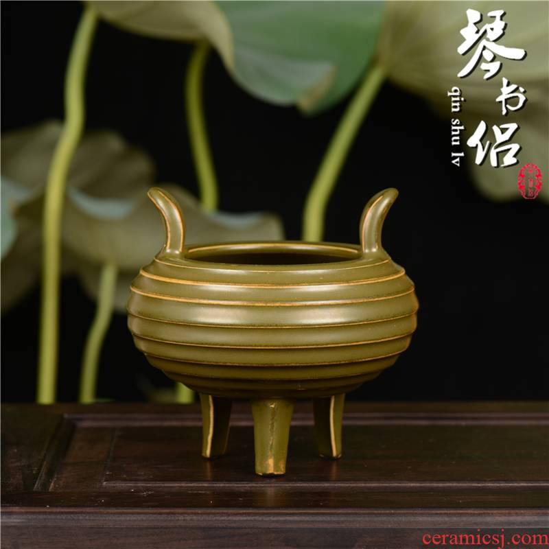 Pianology picking jingdezhen hand - made antiques China up tea censer there are three feet at the end of the furnace products