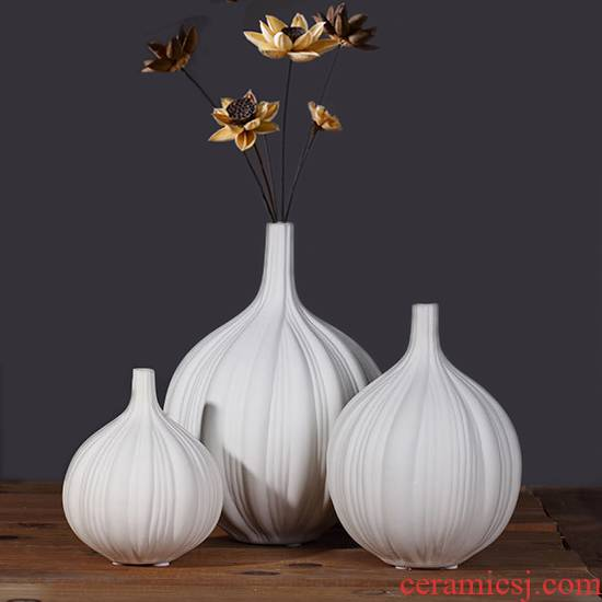 Furnishing articles household act the role ofing is tasted I and contracted fashion soft adornment example room sitting room the abstract vase of jingdezhen ceramics